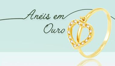 anéis em ouro