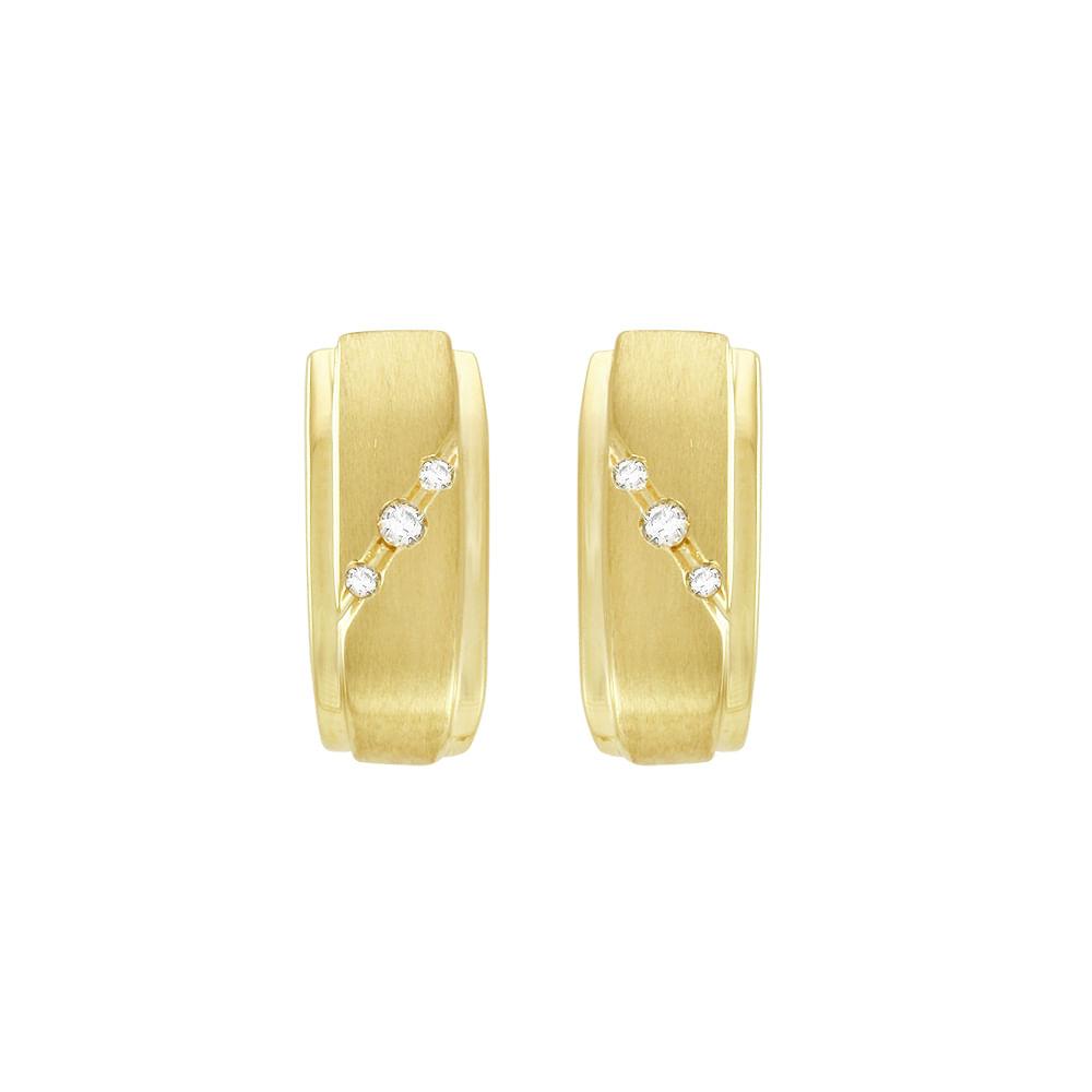 Brinco Argola em Ouro 18K com Diamantes - AU1219   Bruna Tessaro ... 60a7fb0477