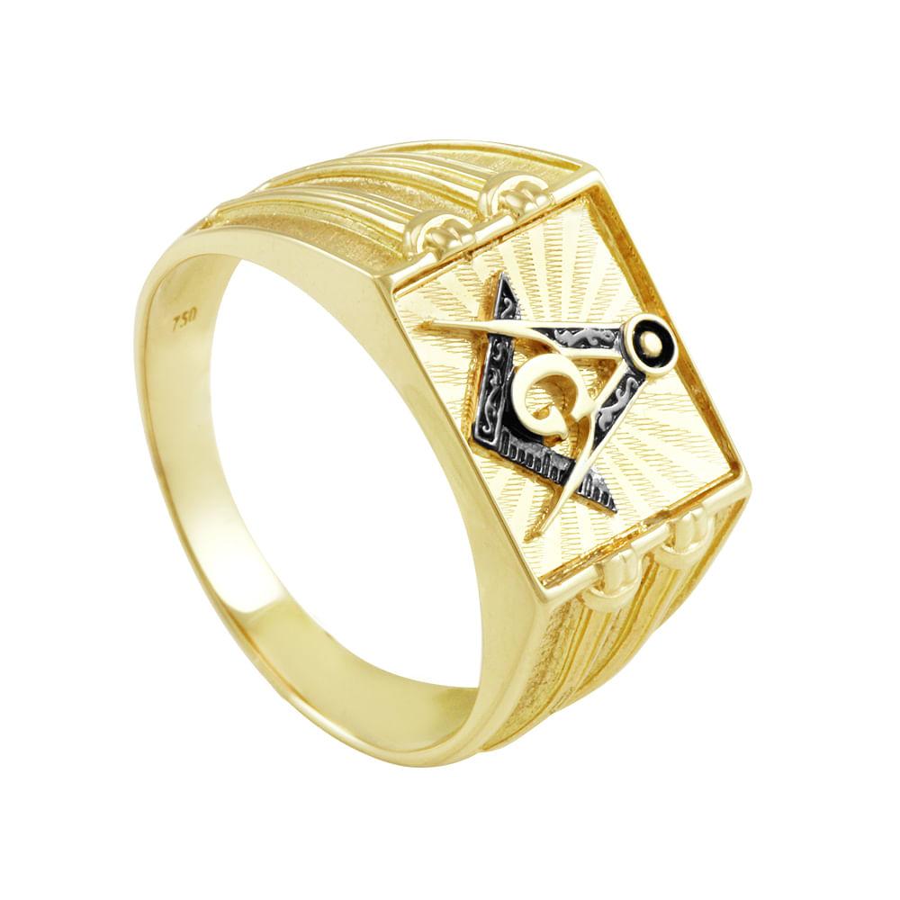 921849a4a27a00 Anel em Ouro 18K Maçom - AU1244 | Bruna Tessaro Joias - brunatessaro
