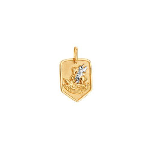 f5d70d19b692c Pingente em Ouro 18K Medalha de São Jorge - AU2183   Bruna Tessaro ...