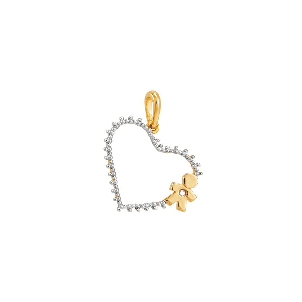Pingente Ouro 18K Menino com Diamantes - AU2483   Bruna Tessaro ... fb721f2d96