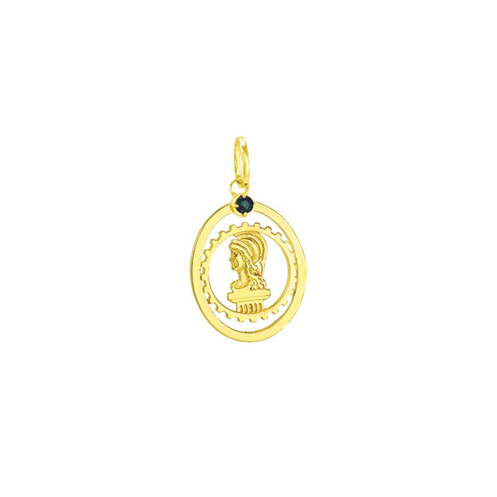 Pingente em Ouro 18k de Formatura Engenharia Civil - AU2597   Bruna ... c7f27c5250