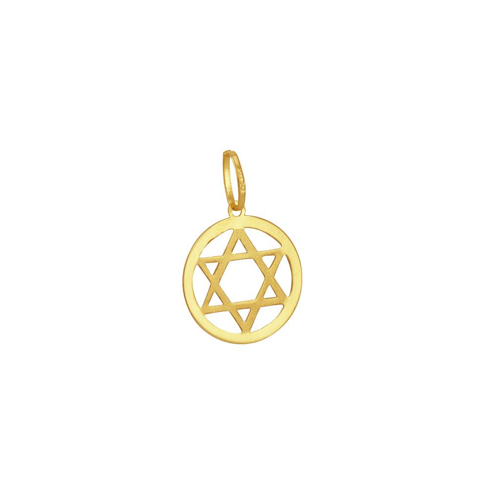 98ac66c36de0e Pingente em Ouro 18k Estrela de Davi - AU3215   Bruna Tessaro Joias ...
