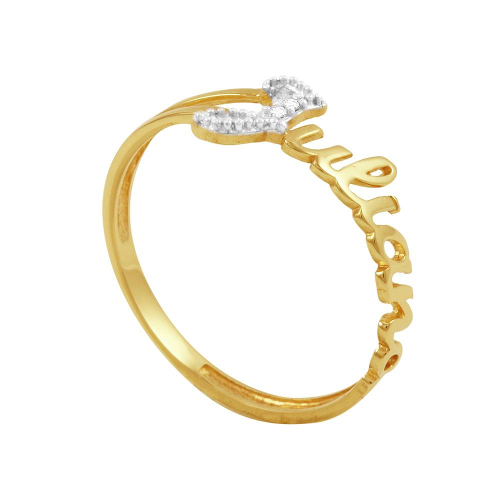 Anel em Ouro 18k Juliana com Diamantes - AU3198   Bruna Tessaro ... 734571fcac