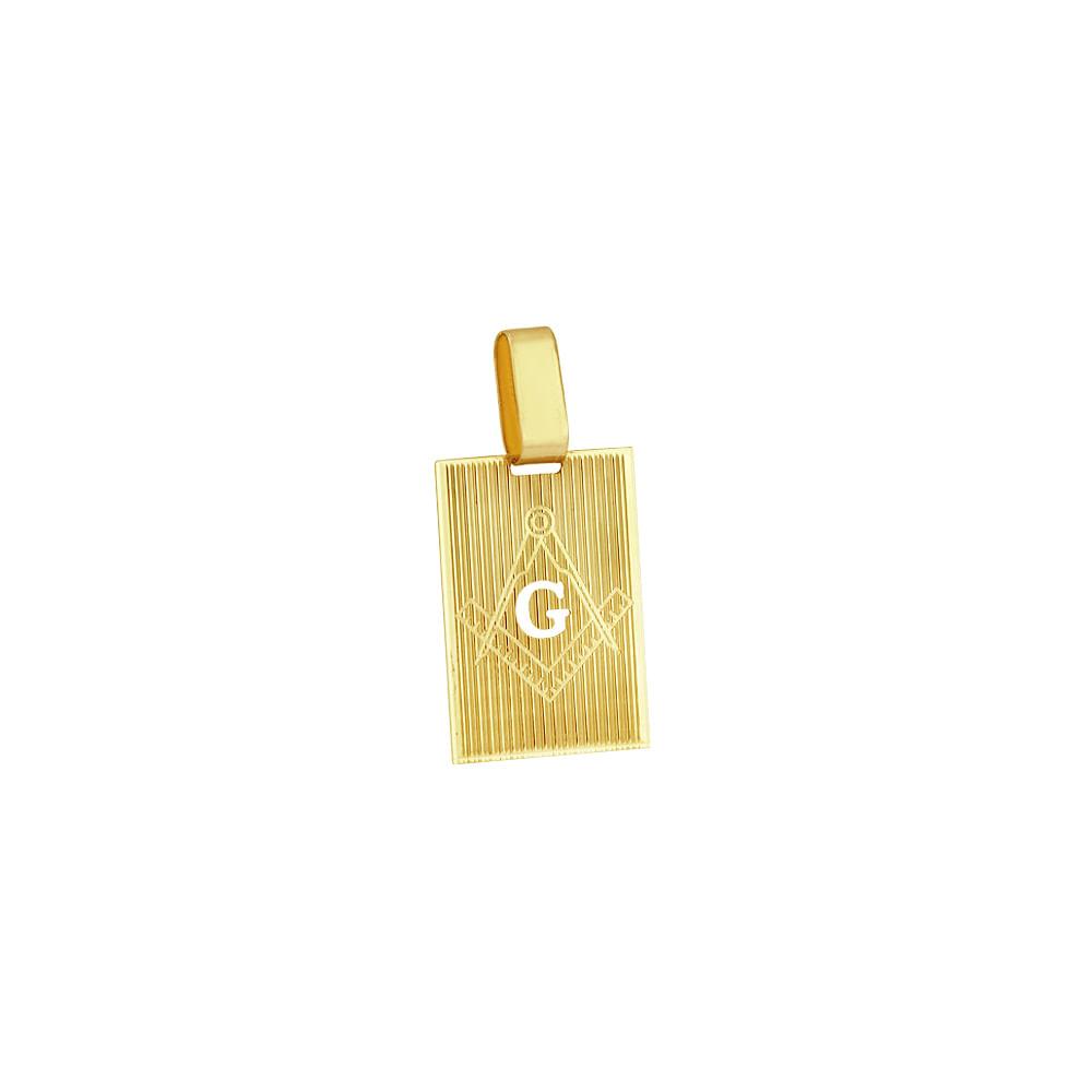 Pingente em Ouro 18K Placa Maçonaria - AU3371   Bruna Tessaro Joias ... f2d3ee2a9a