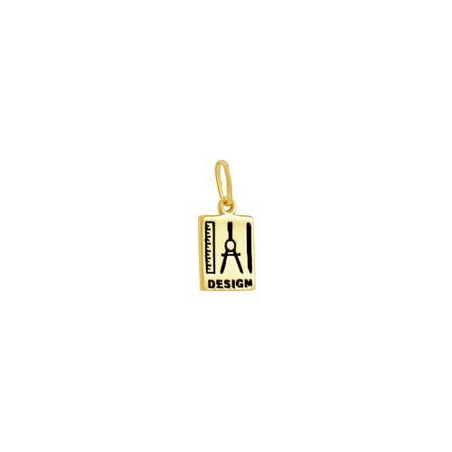 Pingente em Ouro 18K Formatura Placa Design - AU3487 - brunatessaro d79bf5d1cd