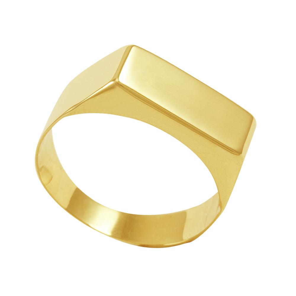 Anel em Ouro 18K Chapa Liso - AU3499   Bruna Tessaro Joias ... 080c76f13b