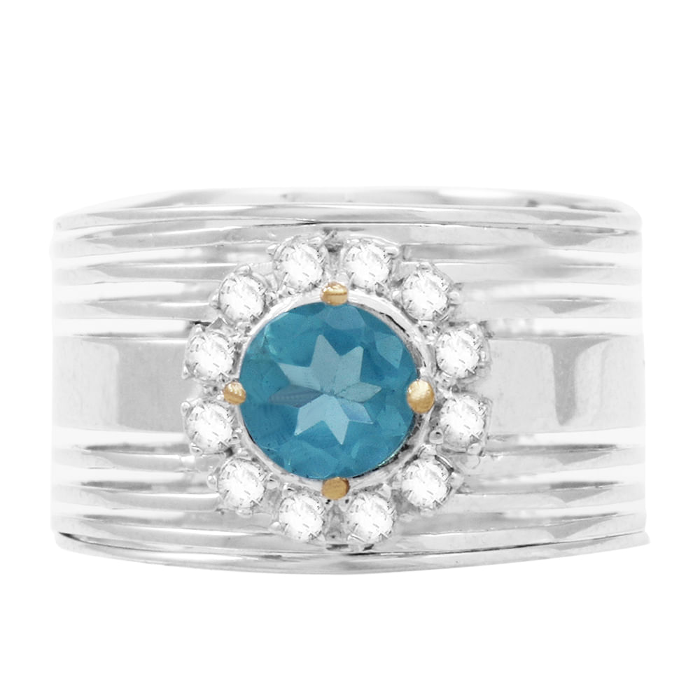 d76c22d959f31 Anel Ouro Branco 18K Apatita e Diamantes - AU1635   Bruna Tessaro ...