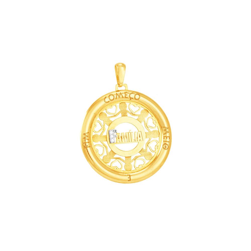 3665b5722eee3 Pingente Mandala Ouro 18K Família - AU2152   Bruna Tessaro Joias ...