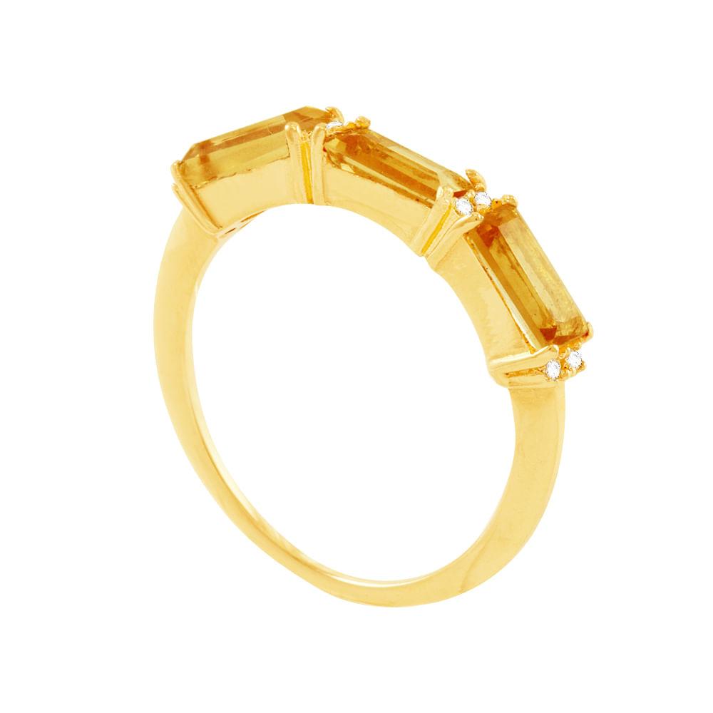 8406d923dd990 Home · Anéis · Anéis. Meia Aliança em Ouro 18K Citrino e Diamantes - AU4828