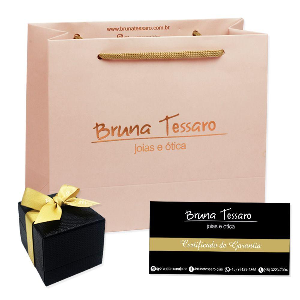 Brinco em Ouro 18K Pendente com Diamante - AU3437   Bruna Tessaro ... fb573da9c1