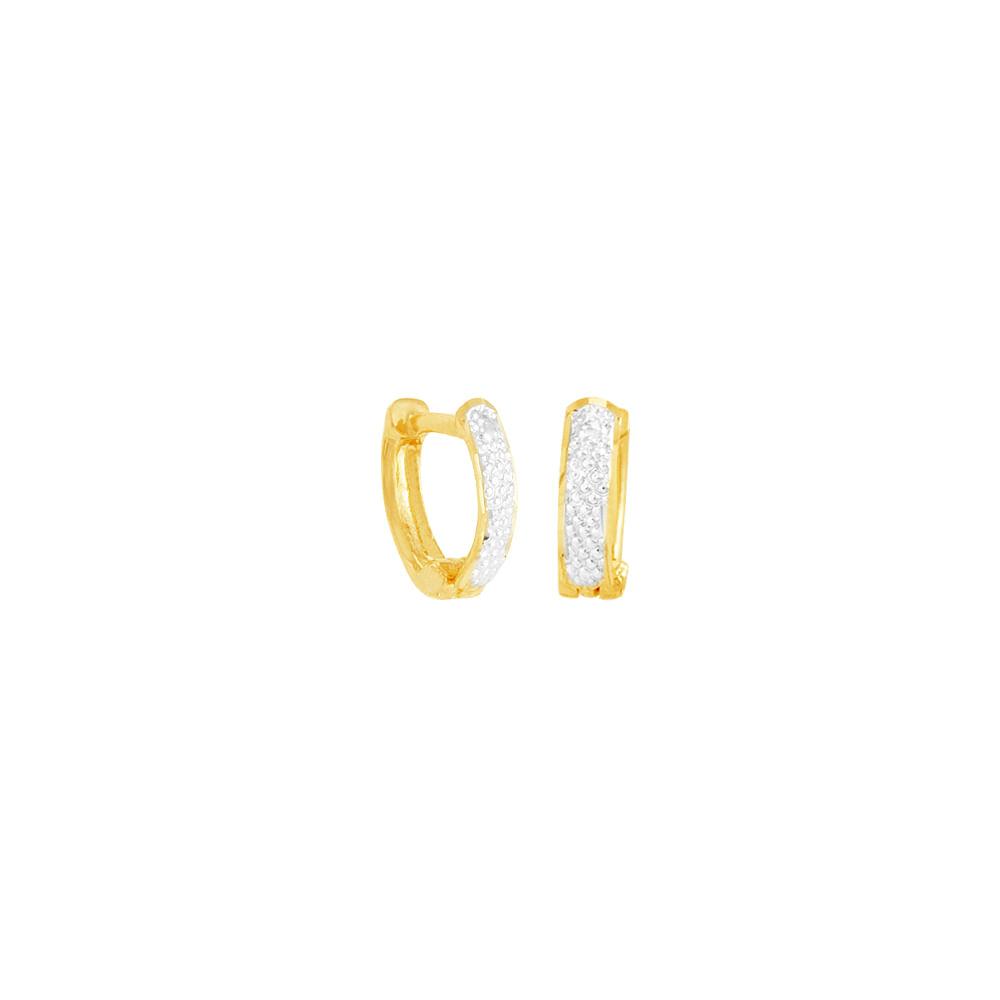123062f110ecf Brinco em Ouro 18K Meia Argola Trabalhada - AU5078