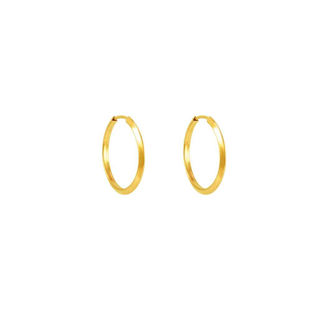 Brinco em Ouro 18K Argola - AU5372  Bruna Tessaro Joias - brunatessaro 41b3a04cbf