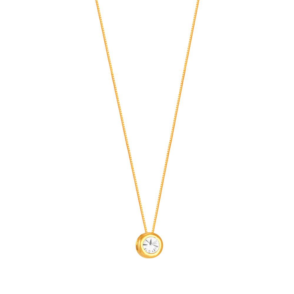 6ef451b9c80a9 Gargantilha em Ouro 18K Ponto de Luz em Diamante - AU5501