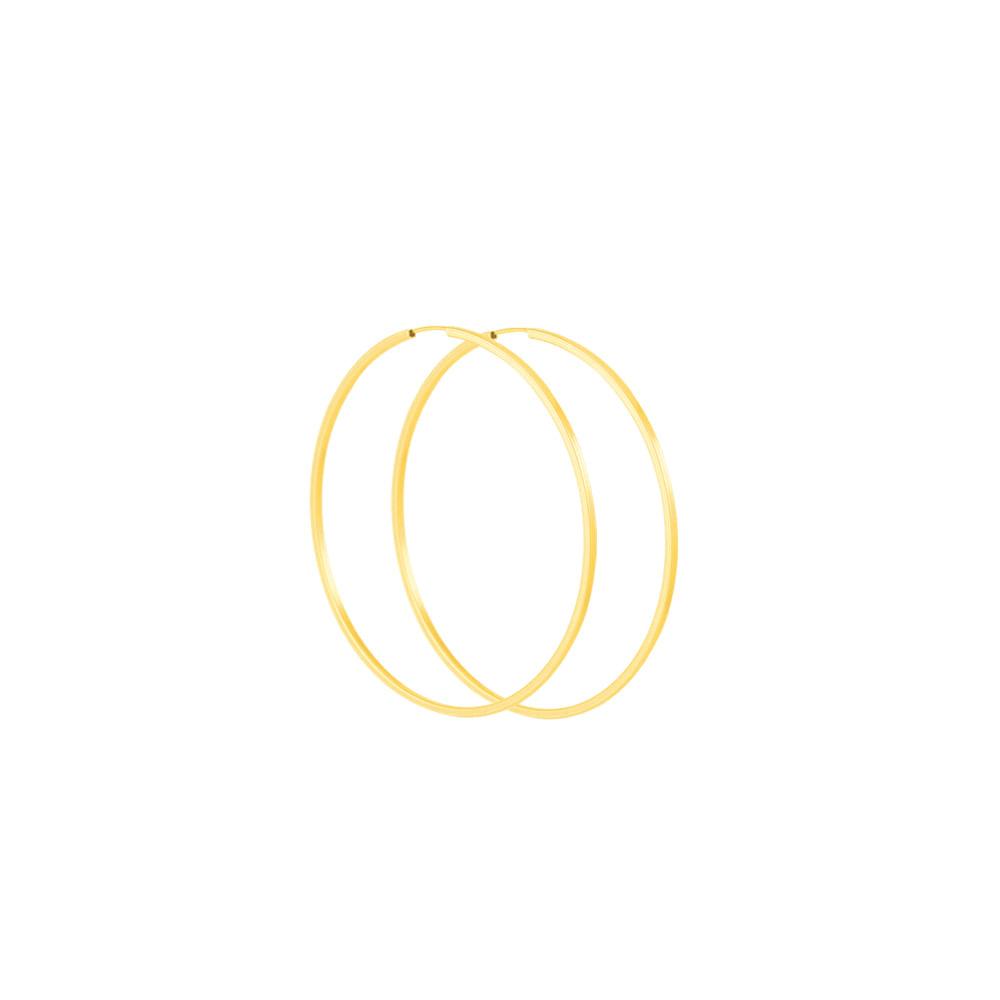 Brinco Argola em Ouro 18K Quadrado - AU4052   Bruna Tessaro Joias ... d932550797