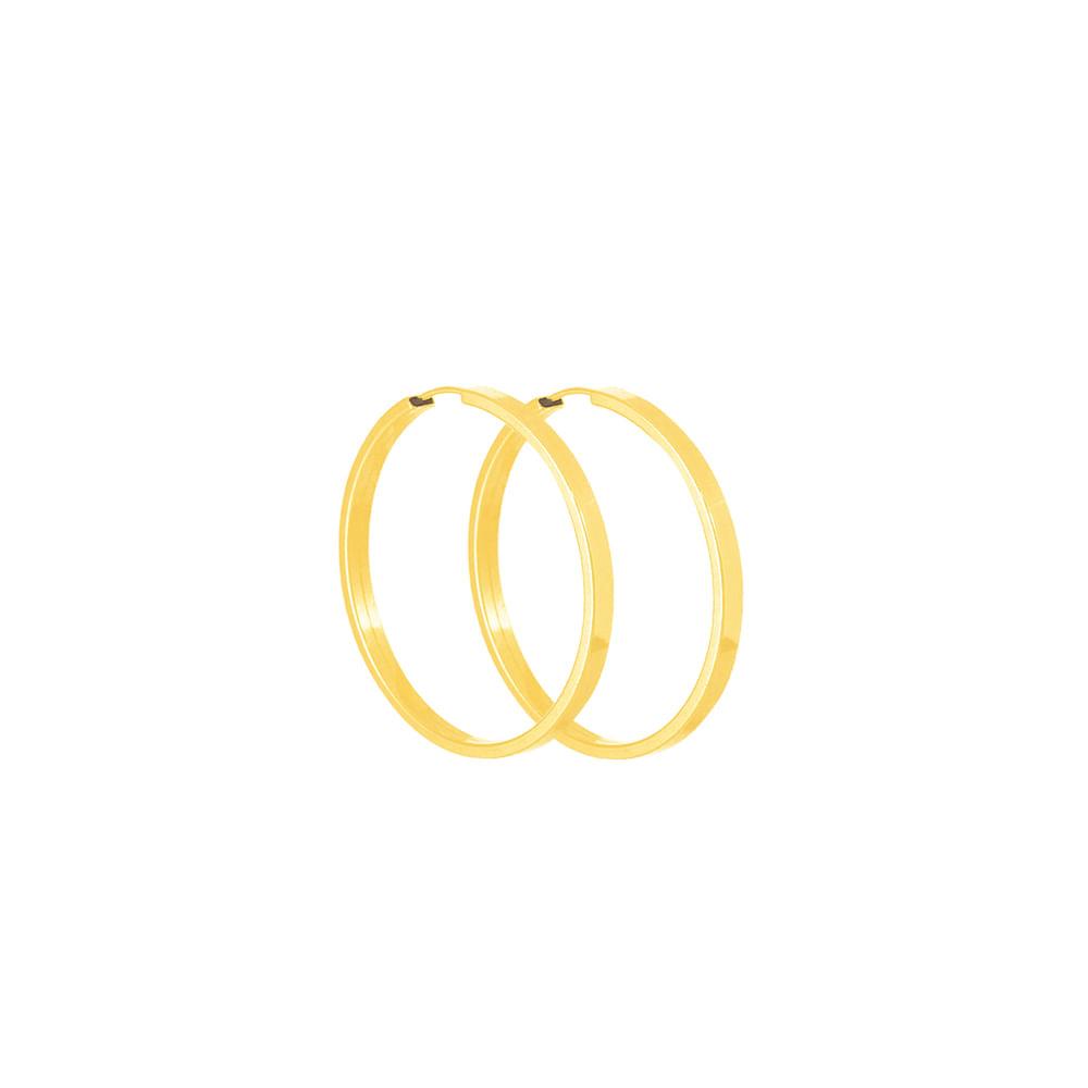 Brinco Argola em Ouro 18K Quadrado - AU4053   Bruna Tessaro Joias ... 8c59ecf4c2