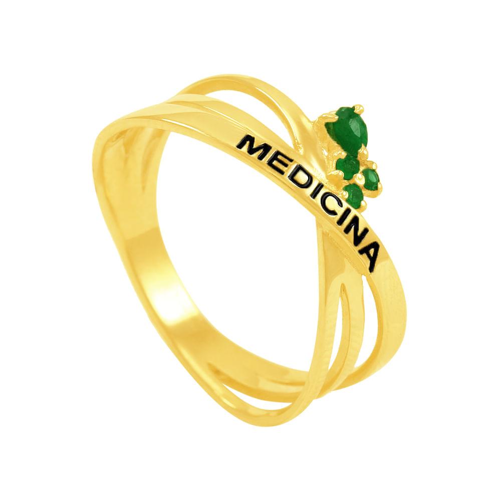 e44af0bdb3e20 Anel em Ouro 18K Formatura Medicina - AU3655   Bruna Tessaro Joias ...
